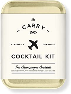 W&P MAS-CARRYKIT-CC Carry on Cocktail Kit, Champagne Cocktail, Travel Kit for Drinks on the Go, Craft Cocktails, TSA Approved