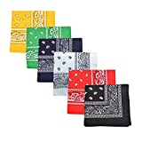 Pack of 3 X-Large Polyester Non Fading Paisley Bandanas 27 x 27 In - Party and