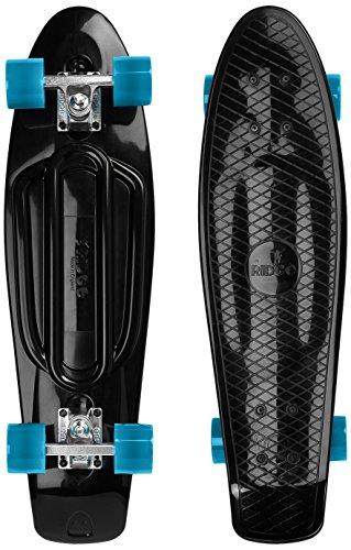 Ridge Skateboards Recycled Cruiser Skateboard, Nero/Blu, 27'