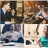 Aschenbecher mit Deckel, Winddichter Edelstahl Tischaschenbecher, Moderne Schwarz Tischplatte Aschenbecher mit Rutschfestem Basis,Tragbar für Draußen und Innen, für Home-Office-Autodekoration - 4