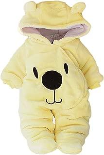 PLENTOP Newborn Baby Jacket Coat Cartoon Bear Snowsuit Winter Warm Fleece Hooded Romper Jumpsuit