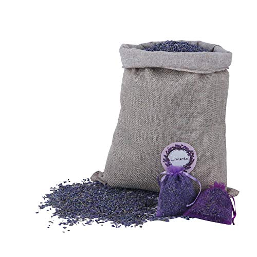 Lavanta Fragrant Lavender Buds Freshener Natured Dried Flower Sachets Home Fragrance(16 Ounce 40Bags)