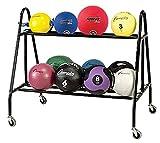 Champion Sports Medicine Ball Storage Cart, Black