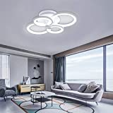 CLEAVE WAVES Plafón Moderno Y Sencillo Plafón LED con Anillo Geométrico Simple Acrílico Blanco Apto para Salón Dormitorio Y Comedor [Clase Energética A]