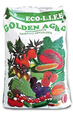 acquaverde concime bio stallatico agristallatico bioconcime Adatto per ulivi Frutti Piante grasse Piante da Giardino 4 Confezioni da 20 kg Golden Agro 80 kg totali