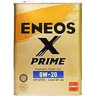 ENEOS X PRIME (エックスプライム) エンジンオイル 0W-20 SP/RC GF-6A (100%化学合成油) 4L缶