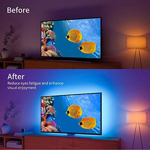 TV LED Backlight with APP Control, Govee 2M LED Strip Lights for TV 40-60in, RGB 5050 TV Lights Kit USB Powered, Adjustable Brightness and Bias Lighting Kit for TV, Computer, Monitor [4pcs * 50cm]