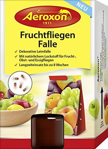 Aeroxon Fruchtfliegen-Falle, Leimfalle (4 x 1er Set)