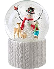 WeRChristmas Muñeco de Nieve Musical Decoración de Navidad, Multicolor, 16 cm