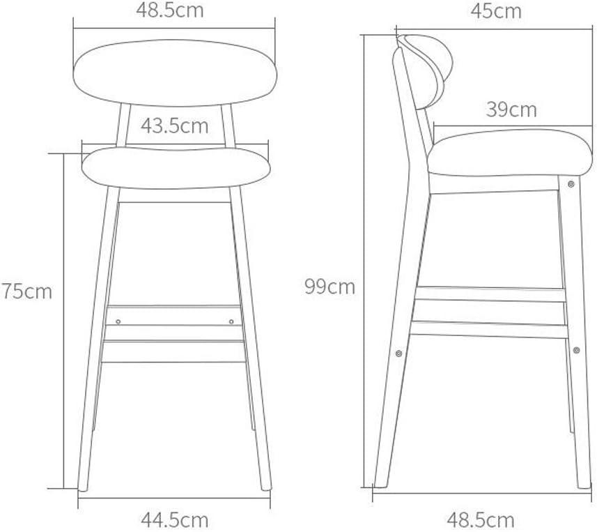 Les meubles Chaise en bois solide préside le tabouret haut créatif de chaise de dossier de chaise de barre (Color : G) S