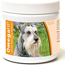 Healthy Breeds Omega 3 for Dogs for Miniature Schnauzer - Over 100 Breeds - EPA & DHA Fatty Acids - Small & Medium Breed Formula - 60 Count