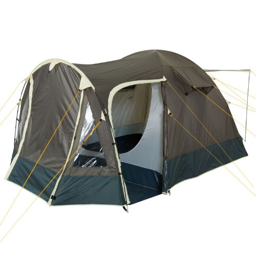CampFeuer Igluzelt 4Trip Kuppelzelt mit Vorbau | Zelt für 3-4 Persone | Khaki | Campingzelt, Familienzelt