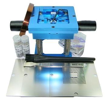 LarcoLais 90mm BGA Reball Station for PS3 GPU CPU CXR714120 Stencil Rework Reballing Repair Kits