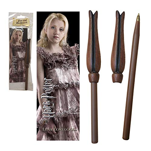 The Noble Collection - Luna Wand Pen and Bookmark - 9in (23cm) High Quality PVC Luna Lovegood Wand Pen With Bookmark - Officially Licensed Harry Potter Film Set Movie Toy