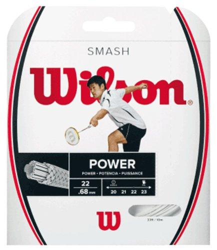 Wilson Badminton-Saite, Smash 66, 10 Meter, 0,68 mm Dicke, Weiß, WRR9429WH