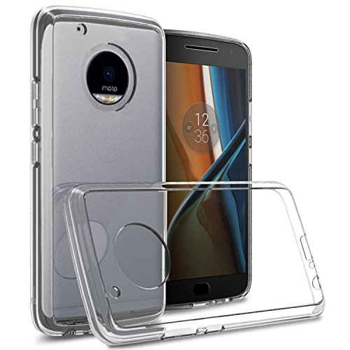 Tektide Case Compatible for Moto G5 Plus, [Invisible Armor] Xtreme Slim, Clear, Soft, Drop Protection TPU Rubber Bumper Case/Back Cover