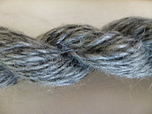 Heather Gray Soft Mohair Blend Worsted Weight Yarn