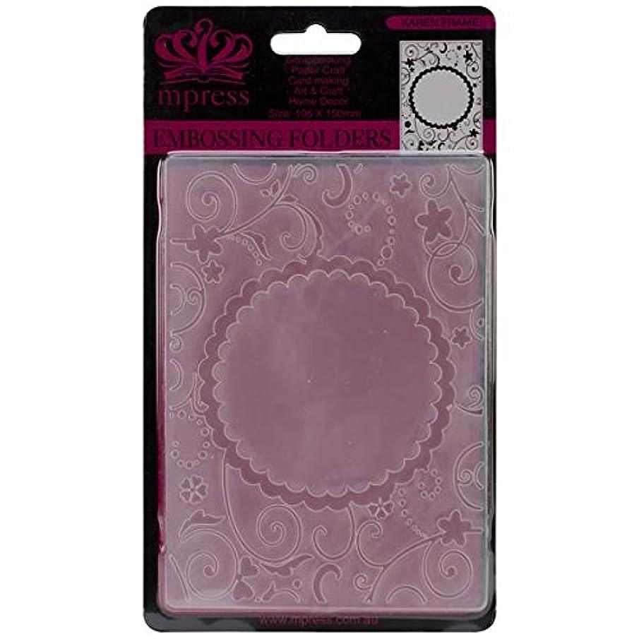 Ecstasy Crafts Nellie Embossing Folder, 4-Inch by 6-Inch, Round Karen Frame