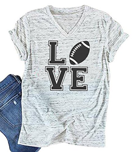 JINTING Women Football Love Shirts Football Graphic Tee...