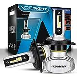 NOVSIGHT Ampoules H4 LED Phare de Voiture 10000LM/Paire 50W/Paire Kit de Conversion Ampoules pour Voiture Auto 6500K Blanc Etanche
