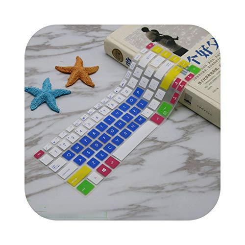 candyblue - Carcasa protectora de teclado para Asus ZenBook Pro UX550 UX550VE UX550VD UX 550 / VD de 15 pulgadas 2017,15 de 6 pulgadas, silicona, protección teclado