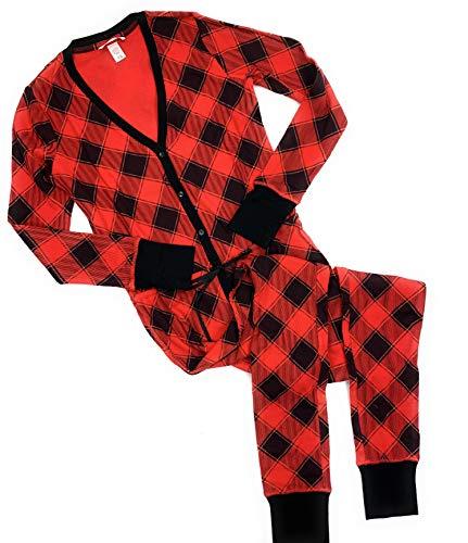 Victoria's Secret Damen Thermo-Pyjama, 1 Stück - Rot - Small