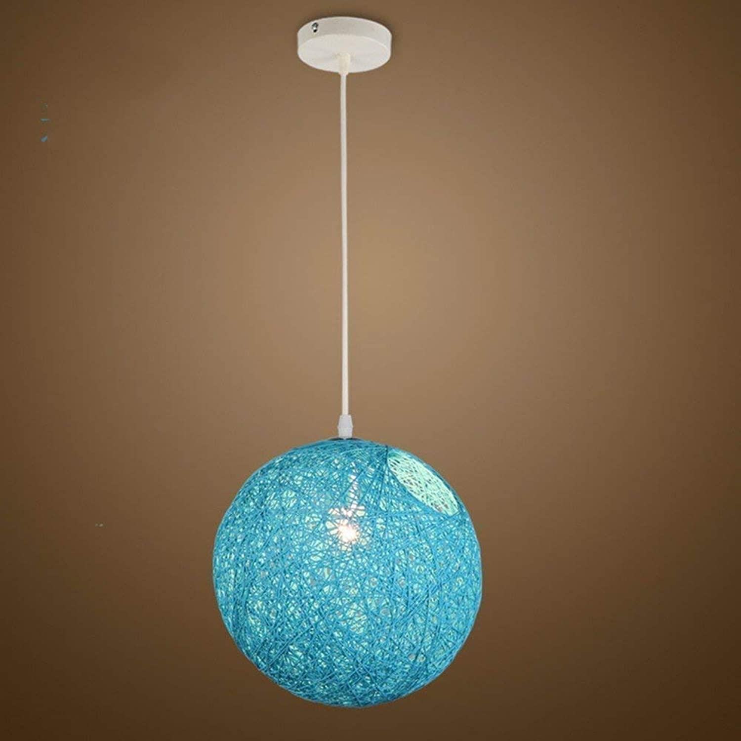 Perfect Home Pendant Lamp Chandelier Vintage Shabby The Ball is Bird's Nest Restaurant Personality Sisal Adjustable Lamps,35Cm Durable