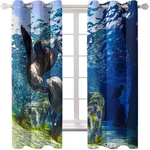MMHJS 3D Simulation Puppy Curtain Stylish Home Decoration Blackout Curtains Suitable For Curtains For Hotels, Bedrooms And Villas 2 Pieces