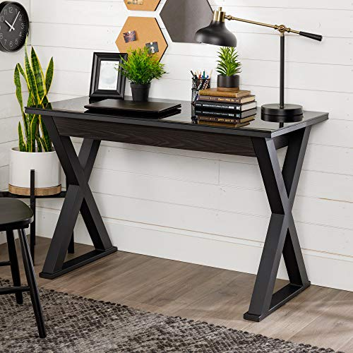 Walker Edison Furniture Modern Farmhouse X Wood Laptop ...
