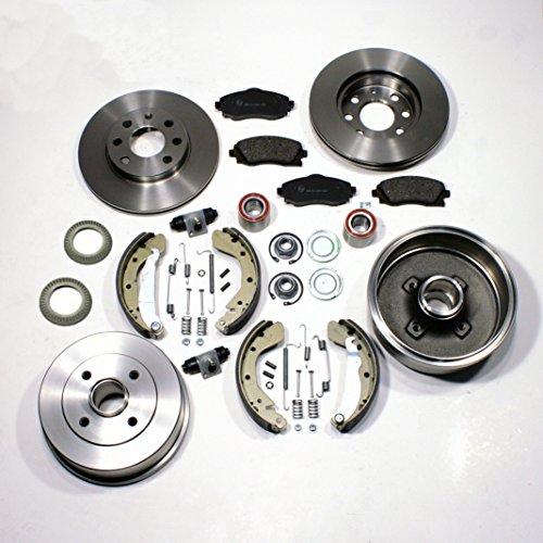 Bremsscheiben/Bremsen + Bremsbeläge + Bremstrommel Set für vorne + hinten