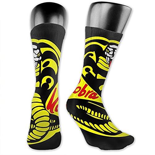 viata sock Cobra Kai - Calcetines de compresión para calcetines altos