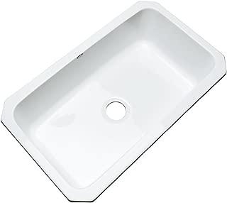 Dekor Sinks 58000UM Brookwood Single Bowl Undermount Cast Acrylic Kitchen Sink, 33