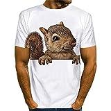 Camiseta Hombre Regular Fit 3D Chic Print Top Hombre Cuello Redondo...