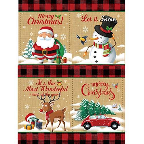 ZFK_Home 4PCs DIY Full Drill Rhinestones 5D Diamond Painting, Christmas Decorations Santa Claus Snowman Elk Truck Paint Embroidery Paintings Crystal Diamond Art Crafts Kits Home Wall Decor