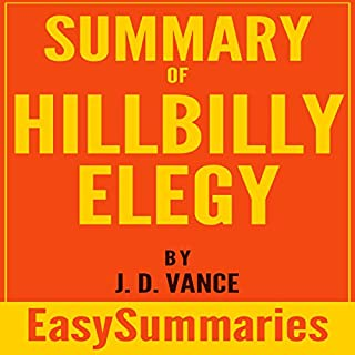 Summary of Hillbilly Elegy By J. D. Vance audiobook cover art