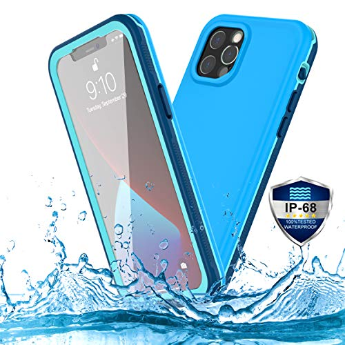 PINGTEKOR for iPhone 12 Pro Waterproof Case,Retail Packaging,IP68 Full Sealed Snowproof Dustproof Shockproof Heavy Duty Protection Cover with Screen Protector for iPhone 12 Pro 6.1 Inch