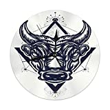 Meili Shop Reloj de Pared Decorativo Big Bull Tattoo Antigua Roma Antigua Grecia Concepto Guerra Minotauro Relojes Redondos Grandes