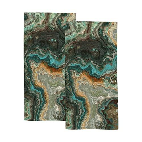 Buena absorción de agua toallas de mano suaves 2 piezas – Azulejo...