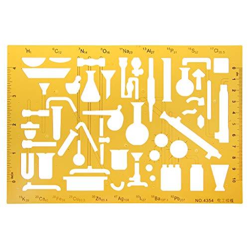 bhty235 Lineal Messwerkzeug K-Harz-Zeichnungsschablonen-Lineal für Messgerät für physikalische chemische Instrumente
