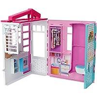 Barbie- Dollhouse Casa de muñecas con accesorios, Multicolor (Mattel FXG54)