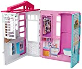 Barbie Dollhouse, Portable 1-Story Playset with Pool and Accessories, for 3 to 7 Year Olds​​​