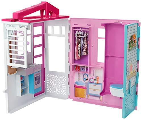 Barbie Dollhouse Casa de muñecas con accesorios, Multicolor