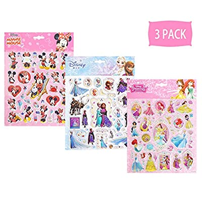 NEILDEN 3D Disney Frozen Stickers 100+ for Kids 2-8, Aesthetic Stickers Pack for Girls and Boys, Cute Cartoon Foam Stickers for Toddlers and Children Party Favors