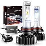 SEALIGHT 9006/HB4 LED Headlight Bulbs 14000LM 6000K Xenon White, 400% Brightness LED Low Beam/Fog Light Non-polarity, Pack of 2