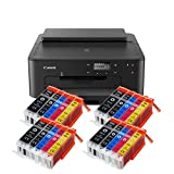 Canon Pixma TS705 TS-705 Farbtintenstrahl-Gerät (Drucker, USB, CD-Druck, WLAN, LAN, Apple AirPrint) Schwarz + 20er Set IC-Office XXL Tintenpatronen OHNE KOPIER- UND SCANFUNTKION