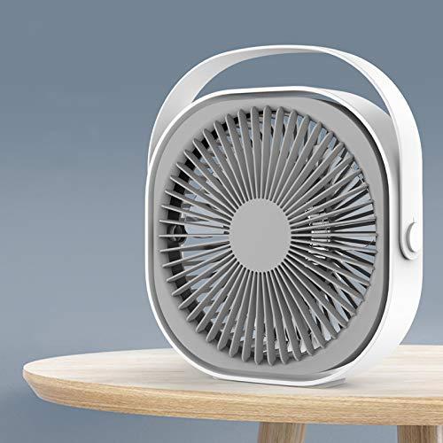 Mini fanático Portátil Pequeño Niablineless DC 5V USB Recargable Ministerio de Oficina de Oficina Soporte Eléctrico Personal Enfriamiento Ventilador Refrigerador Ventilador (Color : White Grey)