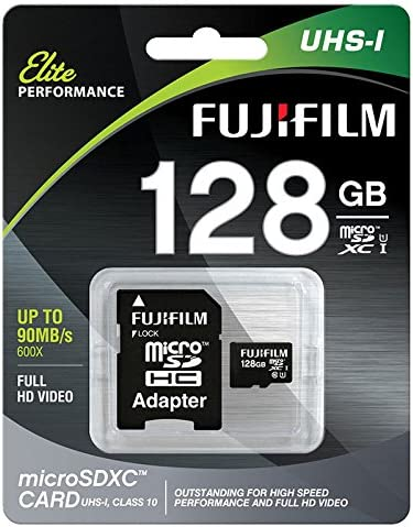 Fujifilm 128GB Class 10 UHS-1 Elite microSDXC Memory Card