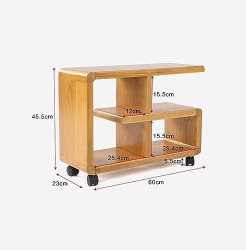 echa un vistazo a los más baratos AFDK Mesita de noche móvil, mesa de sofá sofá sofá de madera, estante lateral, mesa de centro Pequeña, 60  23  45.5 cm,B  gran descuento