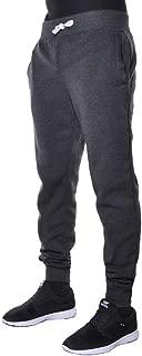 Mens Fleece Jogger Pants Elastic Active Basic Urban Harem Slim Fit