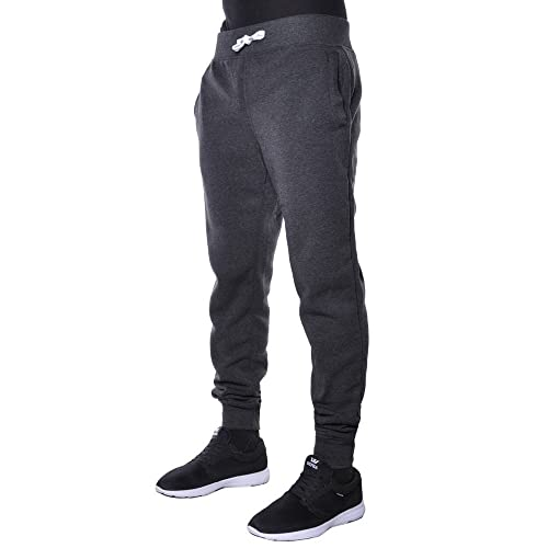 41bfb9a7ccb351 Hat and Beyond Mens Fleece Jogger Pants Elastic Active Basic Urban Harem  Slim Fit